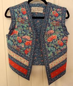 Suttles and Seawinds hand made quilted patch work vest