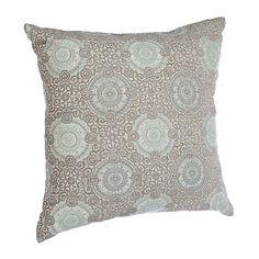 Aqua Stone Spiral Pillow | Kirklands