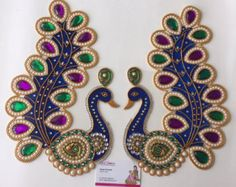 Acrylic Kundan Rangoli by SrushtiCreations on Etsy