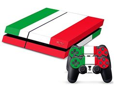 Eddie Internatioanl TM PS4 Console Designer Skin for Sony Playstation 4 Console System Plus Two 2 Decals For PS4 Dualshock Controller  National Flag Italy -- Be sure to check out this awesome product.(It is Amazon affiliate link)