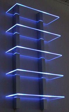 Etagères lumineuses Leds: des modules combinables pour créer l'étagère qui vous convient.