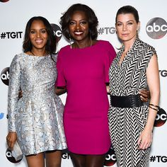 Star Tracks: Monday, September 22, 2014   GET AWAY WITH IT   Kerry Washington, Viola Davis and Ellen Pompeo pose at a West Hollywood Twitter event celebrating Shonda Rhimes and her three TV series (How to Get Away with Murder, Scandal and Grey's Anatomy) Saturday.