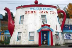 Bobs Java Jive, Tacoma, WA. So Ok it's not in Seattle, but an hour away. . . . .if you don't think that counts as Seattle,so tell me where the next closest teapot dive bar is!
