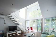 Designs by Style, Modern Loft Sofas And TV: Contemporary Japanese Style Interior Design