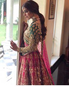 Details about Pink Lehenga Choli Designer Indian Ethnic Lengha Chunri Sari Bridal Wedding Wear - Indian Haute Couture - Indian Bridal Lehenga, Indian Bridal Outfits, Indian Bridal Wear, Pakistani Bridal Dresses, Indian Dresses, Indian Wedding Dresses, Sabyasachi Lehenga Bridal, Indian Reception Outfit, Rajasthani Lehenga