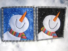 Day & Night in the Snow | Two little 7 inch mini quilts, sid… | Flickr