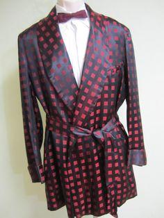 Vintage Mens Smoking Jacket Silk smoking by VintageWearTreasures, $170.00 SOLD:)