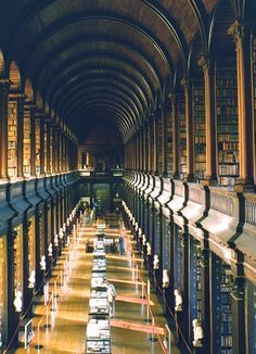 Trinity College Library, AKA, The Long Room, Dublin, Ireland. Professor Xavier would study here.