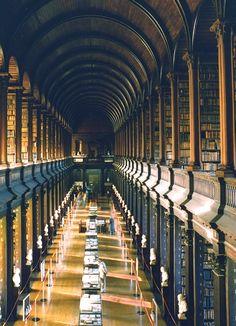 Trinity College Library, AKA, The Long Room, Dublin, Ireland. Professor Xavier would study here.