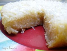 Coconut Butter Mochi, made in a rice cooker - recipe from Hapa Bento