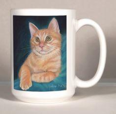 Orange Cat Mug  Cat Gift  Orange Tabby Mug  by ArtByJulene on Etsy