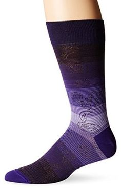 BUGATCHI Men's Faded Paisley Crew Socks, Orchid, 10-13/6-12 at Amazon Men's Clothing store: