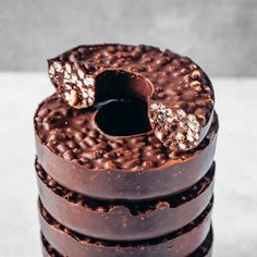 3-Ingredient Chocolate Crunch Doughnuts (Vegan & Gluten-free) - UK Health Blog - Nadia's Healthy Kitchen