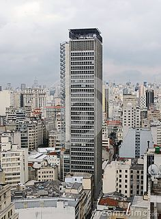 Old downtown of São Paulo seen from the top of Martinelli building.