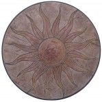 Concrete Stamps - Sun Stamp Medallion-3 Ft Diameter Stamped Concrete Designs, Driveway Ideas, Stencils, Decorative Plates, Stamps, Shed, Home And Garden, House, Home Decor