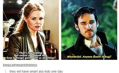 Parallels.... Emma and Hook season 2 and 3
