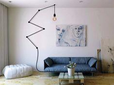 Lampada a sospensione a luce diretta SNAKE LAMP BLACK Collezione Snake Lamp by…