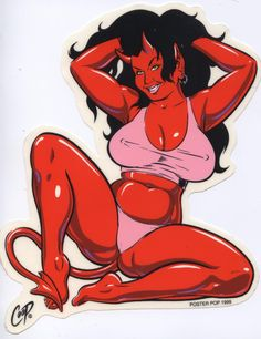 """Coop Panty Girl Sticker  Sticker by Artist: Coop   THE VERY LAST OF THIS STICKER! *LONG OUT OF PRINT* RETAIL ONLY Large Size = Approximately 4 to 6"""" Peel and Stick. Die Cut Clear Mylar UV Ink Printed,"""