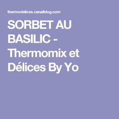 SORBET AU BASILIC - Thermomix et Délices By Yo