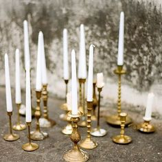 awesome vancouver wedding #weddingwednesday inspiration: beauty brass candlesticks  #vancouverwedding #vancouverwedding