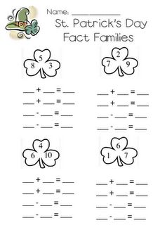 Fact Families - March