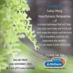 @myradiocity Radio City will be Broadcasting Heartfulness programs on their Web Radio channels from 16th of November. Https://www.Instagram.com/planetradio/