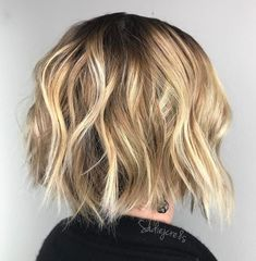 Edgy Blonde Balayage Crop
