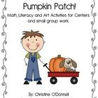 Here are 104 pages of learning fun based on pumpkins. Great for math and literacy centers for Late September through November. This unit includes:...
