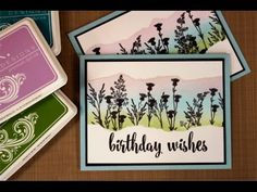 Technique: Ink Blending and Masking for a Floral Card (Craft Gossip) Birthday Wishes, Birthday Cards, Stamp Tv, Hand Made Greeting Cards, Card Tutorials, Video Tutorials, Etsy Crafts, Diy Cards, Making Ideas