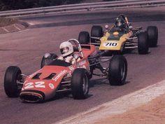 The legendary Gilles Villeneuve driving his Magnum Formula Ford in 1973.
