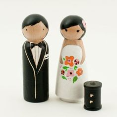 Cake Toppers from lil Cake Toppers.. So cute!