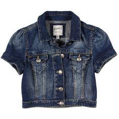 Esprit - Cropped S/S Denim Jacket (Fashion Vintage) - Apparel ($90) ❤ liked on Polyvore