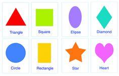 Make Flash Cards of Shapes