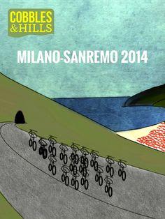 Velo Illustration 85: «Milano–Sanremo» by Cobbles&Hills. Mailand-Sanremo ist das erste der «Fünf Monumente des Radsports» und mit 300 Kilometern das längste klassische Eintagesrennen im Profi-Radsport. Der Beiname «La Primavera» steht für den Frühling, kann aber auch als «prima vera corsa» verstanden werden, das «erste richtige Radrennen» des Jahres. [[MORE]]