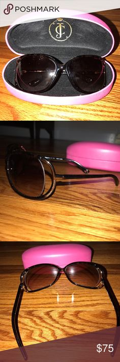 Juicy Couture sunglasses Authentic juicy couture tortoise shell sunglasses. With original juicy pink case. Great condition, barely used! Juicy Couture Accessories Sunglasses