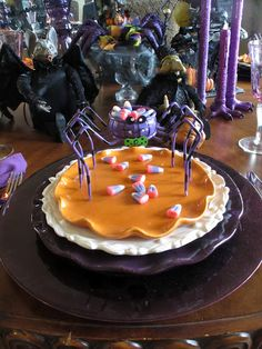 Purple Halloween Table