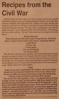 Rainbow Gospel Radio   Recipes from the Civil War: Beaten Biscuits Soap