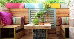 Diy Pallet Furniture, Garden Furniture, Outdoor Furniture Sets, Outdoor Decor, Painted Furniture, Furniture Ideas, Antique Furniture, Pallet Exterior, Pallet Patio
