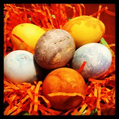 """""""Naturally dyed"""" Easter Eggs"""