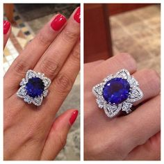 Tanzanite & diamond ring #bjc #bahrainjewellerycentre #bahrain