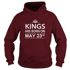 Birthday May 23  kings are born in ,TShirt, Hoodie Shirt VNeck Shirt Sweat ,Shirt for womens and Men ,birthday, queens Birthday May 23  kings  HUSBAND ,WIFE  #happy #birthday #tshirt #happybirthday #tee