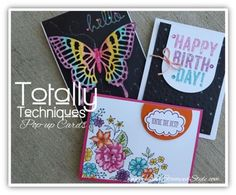 Totally Techniques Class Pop-Up Cards by http//www.HandStampedStyle.com