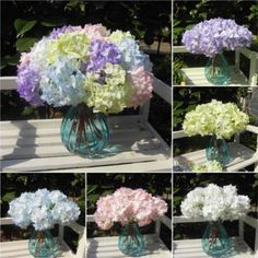 Package include:1Pcs Artificial Hydrangea Flower Bouquet. This bouquet made by durable material,big flowers' balls and leaf in one bouquet.   eBay!