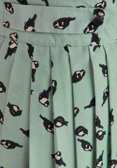 Chatter and Chirp Skirt, #ModCloth