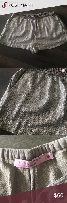 Calypso St Barth sparkly shorts M Beautiful sparkly shorts by Calypso St Barth size M. Dress these up or down. Perfect for summer!  I love these but they're too big 😫 Calypso St. Barth Shorts