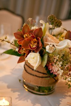 rustic or fall reception wedding flowers,  wedding decor, wedding flower centerpiece, wedding flower arrangement, add pic source on comment and we will update it. www.myfloweraffair.com can create this beautiful wedding flower look.