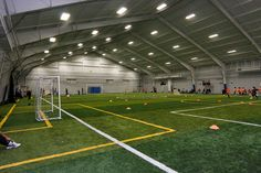 Renovation of a 50,000 square foot storage facility into two indoor soccer fields with locker rooms and concessions.