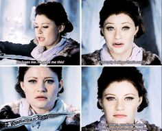 It's pretty sad because this shows that deep down, Belle knows that Rumple has betrayed her :'(