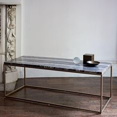 Mira Coffee Table - Black Marble | west elm AU