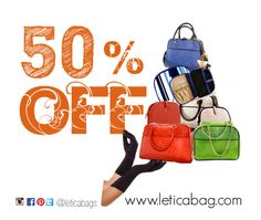 Letica wants to make you ALL beautiful!  This Friday, Saturday and Sunday -- February 20, 21 and 22 all Letica products are 50% off on all merchandise in stock! Take advantage of this great offer and get your Letica Shopper Bag, Clutch, Bowling Bag, Satchel and our unique Beauty Bag at a price as irresistible as our fabulous designs.   Follow us @LeticaBags on Pinterest, Twitter, Instagram and Facebook!.